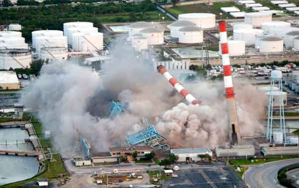 Florida Power & Light Demolishes Power Plant
