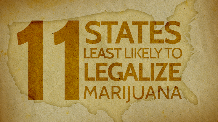 11 States Least Likely to Legalize Marijuana
