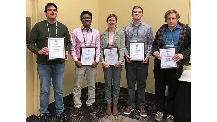 Five students earn Bryson L. James Student Competition awards