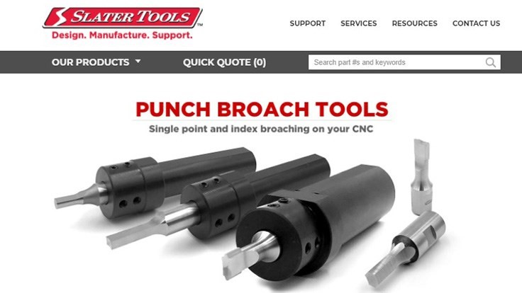Slater Tools's website offers convenience, easy navigation