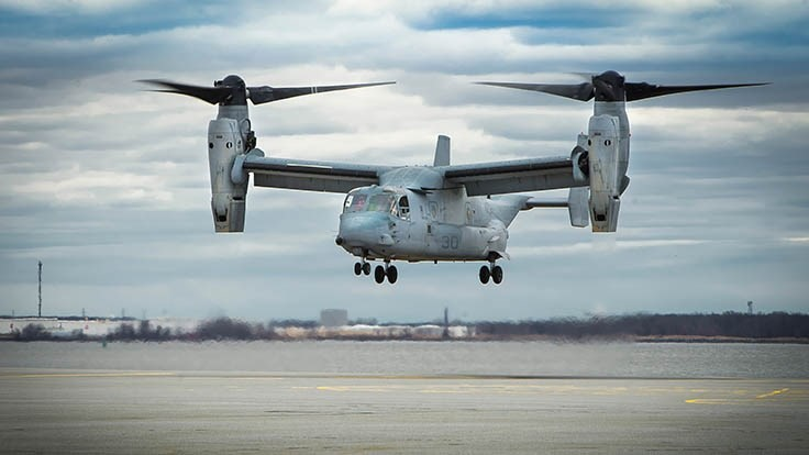 Bell Boeing team to modify Marine Corps MV-22 Ospreys