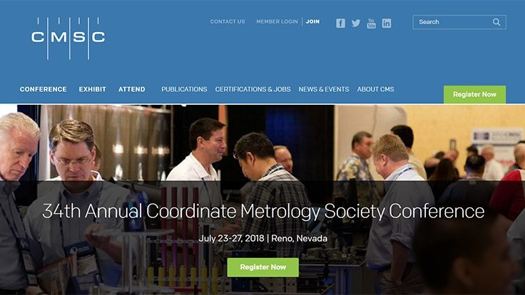 Registration open for coordinate metrology conference