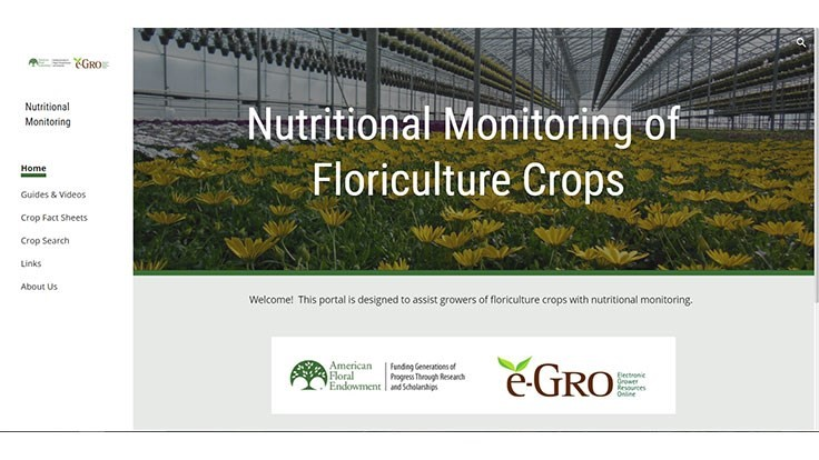 e-GRO launches Nutritional Monitoring of Floriculture Crops website