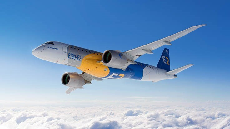 Embraer E190-E2 certified by ANAC, FAA, EASA