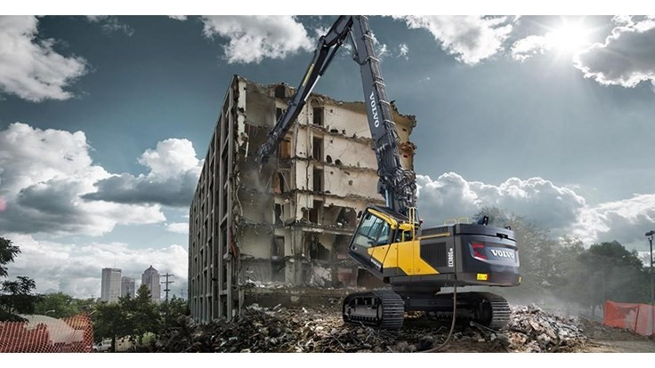 Volvo CE extends lifetime warranty to demolition and wheeled excavators