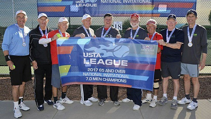 Dr. Allan Armitage's tennis team wins national tournament