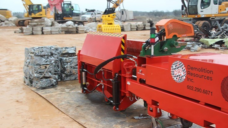 Demolition Resources introduces baler to North American market