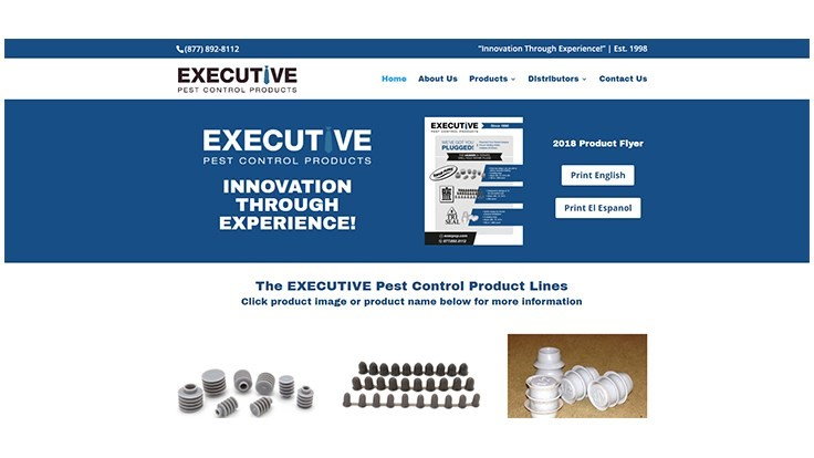 Executive Pest Control Products Redesigns Website