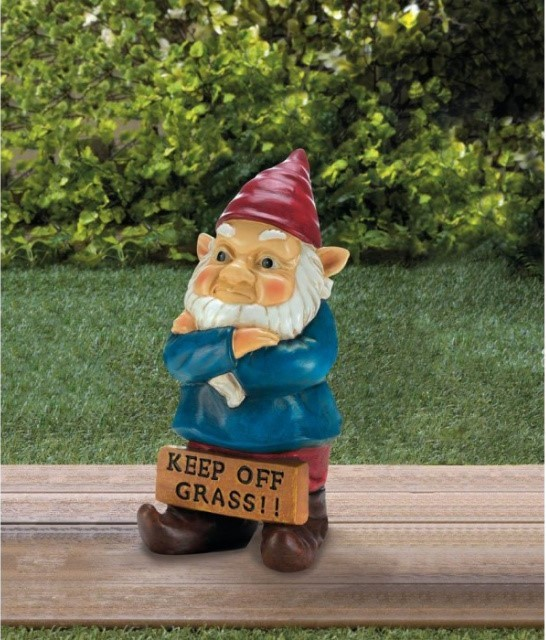 """Keep Off Grass"" Garden Gnome"