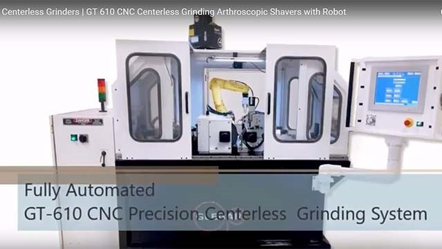 Glebar centerless grinding arthroscopic shavers with robot [Video]