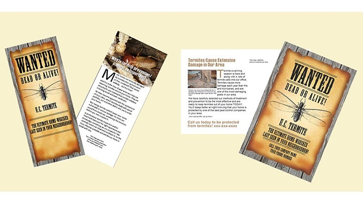 Compelling Communications Offers Termite Control Marketing Materials