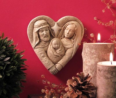 Heart of Christmas nativity plaque