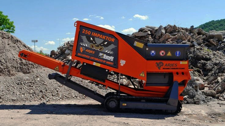 Bandit to offer ARJES industrial shredders and rock crushers