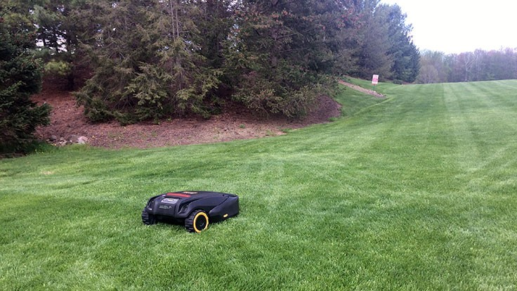 Cub Cadet demos its robotic mower