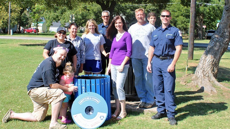 Dr Pepper Snapple Group, Keep America Beautiful award recycling bins