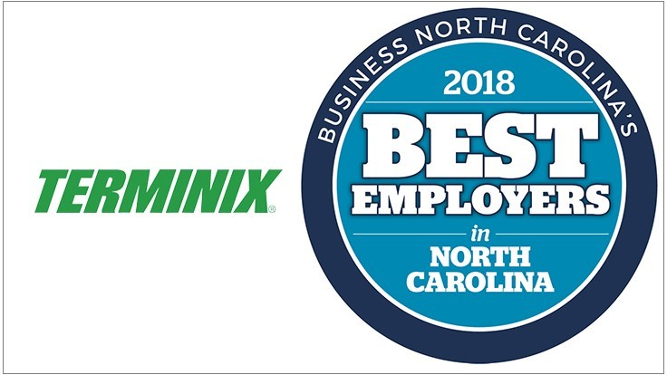 Terminix Service Named One of the Best Employers in N.C.
