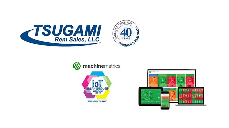 Tsugami/Rem Sales partners with MachineMetrics IIoT platform
