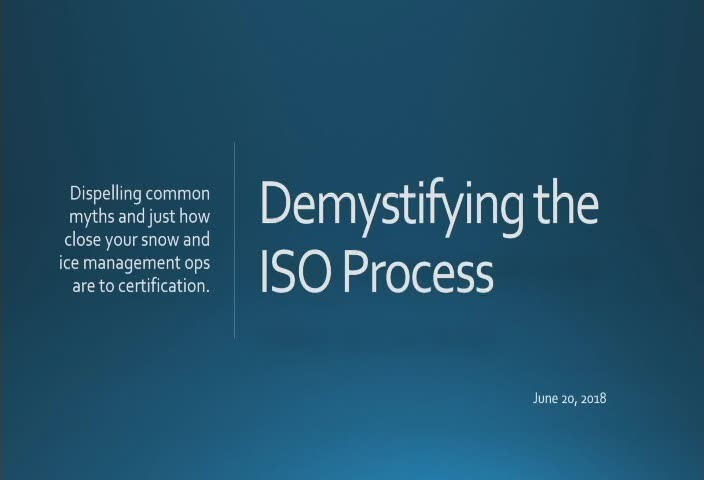 Demystifying the ISO Process