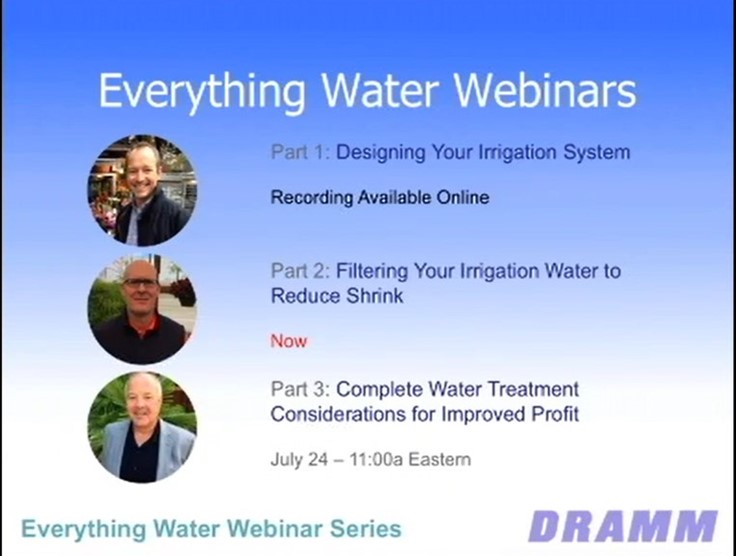 Sponsored: Filtering your irrigation water to reduce shrink [webinar]