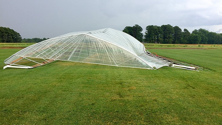 Severe storm destroys University of Arkansas turfgrass research structures