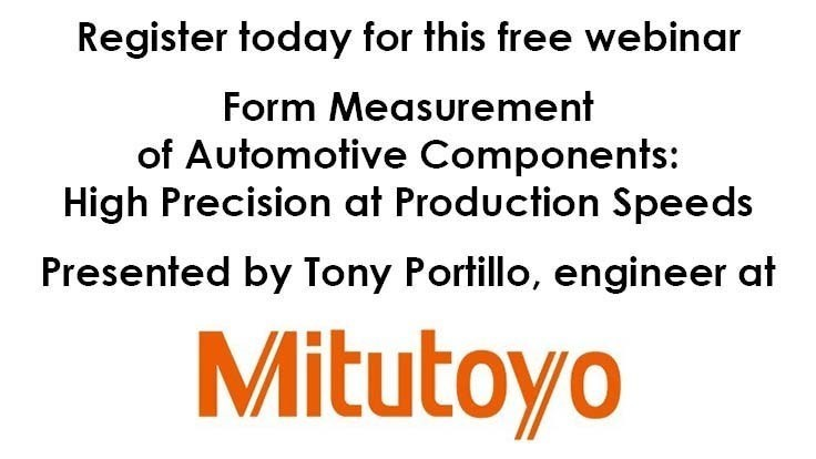 Free metrology webinar: Mitutoyo discusses form measurement