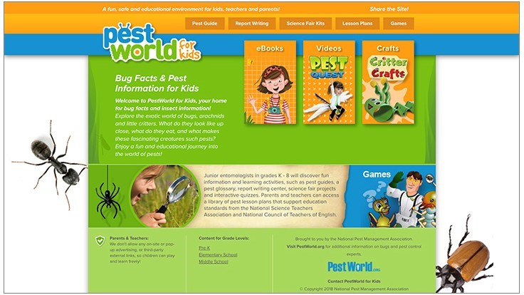 PPMA Makes Enhancements to PestWorldForKids.org