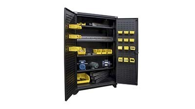 Welded heavy duty cabinets