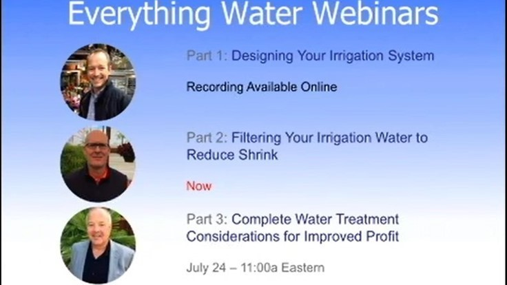 Sponsored: Complete water treatment considerations for improved profit [webinar]
