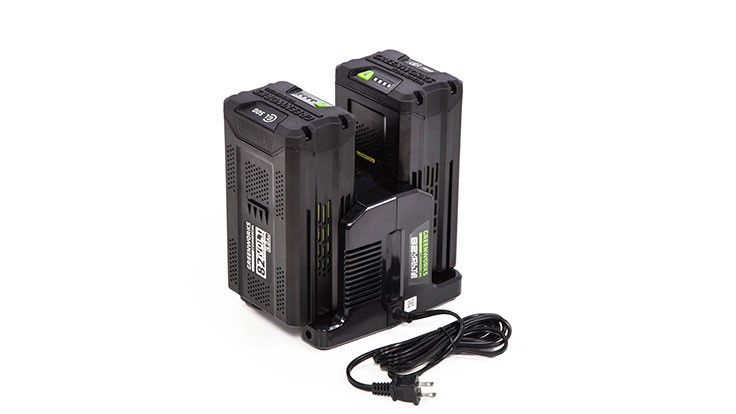 Greenworks launches 82-volt Rapid 2-Port Charger