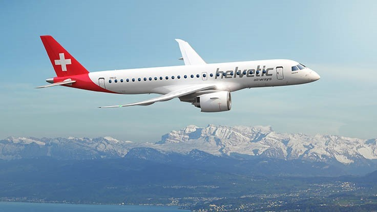 Helvetic Airways firms order for 12 Embraer E190-E2 jets