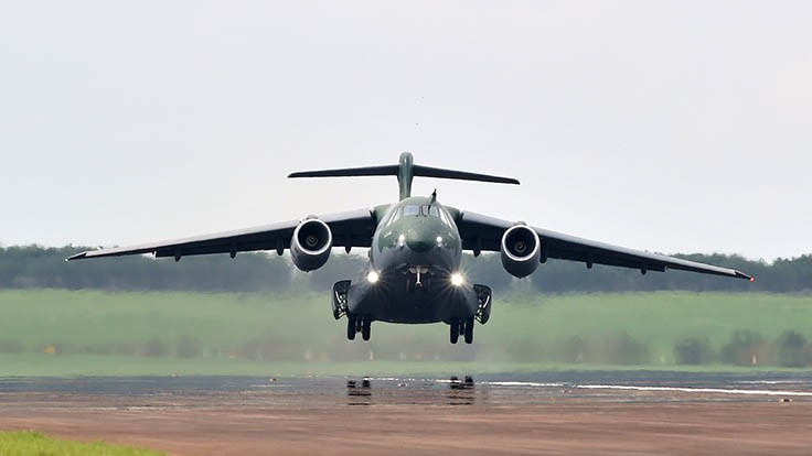 First flight of series production Embraer KC-390 - Aerospace