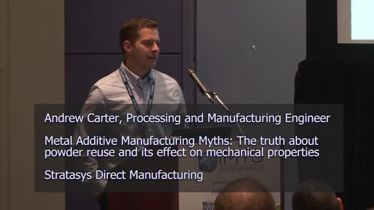 Metal Additive Manufacturing Myths: The truth about power reuse and its effect on mechanical properties – IMTS 2018 Conferences