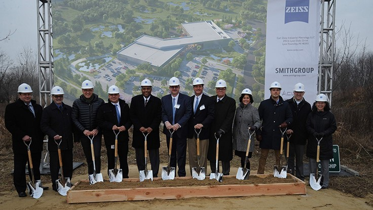 ZEISS breaks ground for new Detroit metro area facility