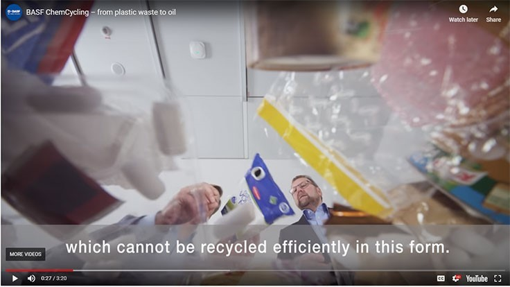 BASF's ChemCycling project uses chemically recycled plastics in