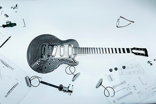 Sandvik creates smash-proof, 3D printed guitar
