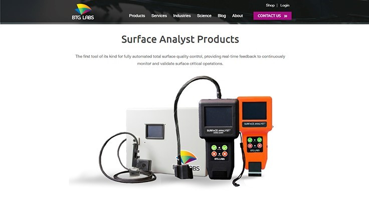 BTG Labs' expanded website; Adhesion process walk