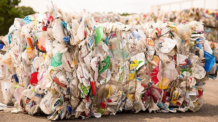 Recycling rates for nonbottle rigid and film plastics