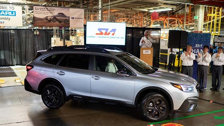 Subaru Begins Production Of Legacy Outback In Indiana