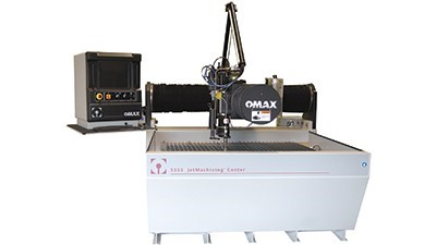 OMAX waterjet cutting display at EMO 2019 - Today's Medical Developments