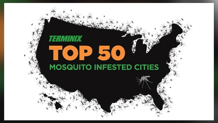 Terminix Releases List Of Top 50 Mosquito Cities Pct Pest Control Technology