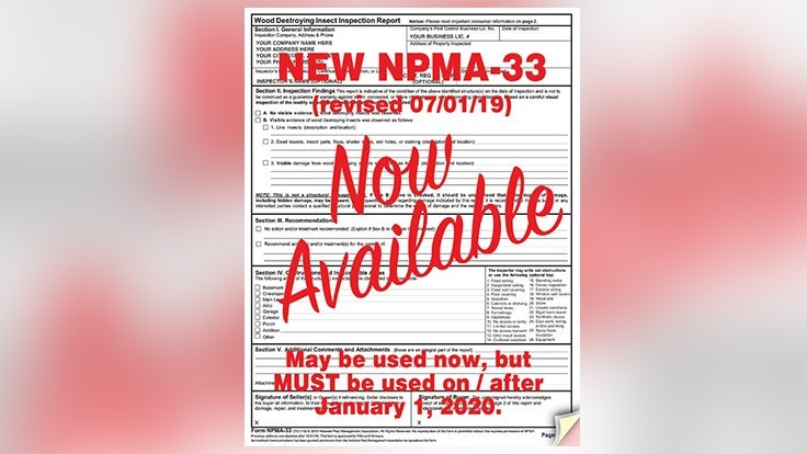 Servicemark Licensed By Npma To Print Form Npma 33 Pct Pest Control Technology