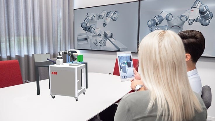 ABB's smartphone Augmented Reality simplifies robot installations