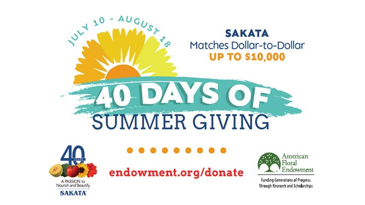 Sakata and American Floral Endowment announce '40 Days of Summer Giving'