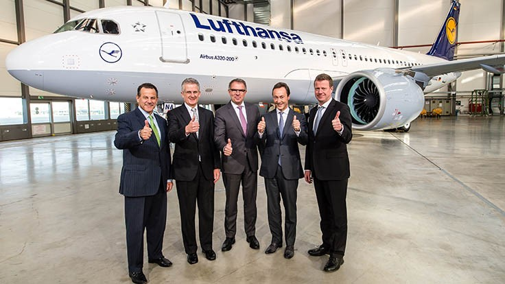 Lufthansa takes delivery of first Airbus A320neo