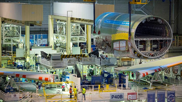 First Airbus A330neo starts final assembly in Toulouse