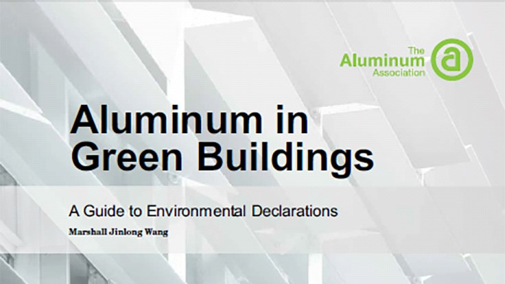 The Aluminum Association updates green building guidelines