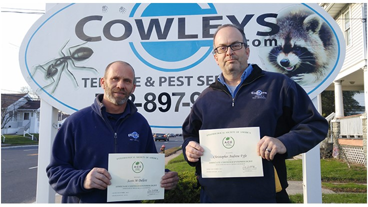 Cowleys Pest Services' Dellett and Fyfe Earn ACE Credentials