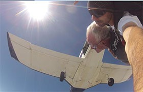 Action Termite and Pest Control Founder Completes First Skydive at 75