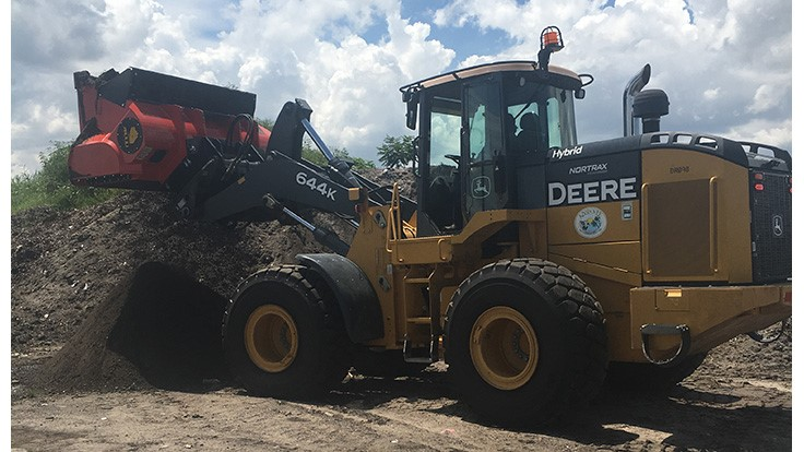 Allu bucket screener helps reclaim soil in Florida city