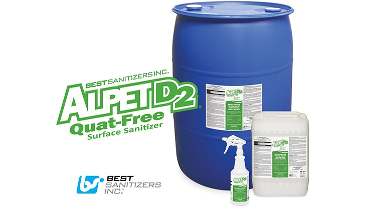 Best Sanitizers Introduces Alpet D2 Quat-Free Surface Cleaner and Sanitizer